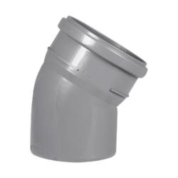 Колено ПВХ для внутренней канализации DN110x15