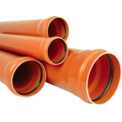 Труба ПВХ для наружней канализации SN4 200x4,9x3000 (Россия)