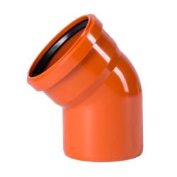 Колено для наружней канализации DN110x45 (Россия)