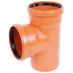 Тройник ПВХ для наружней канализации DN110x110/90 (Россия)