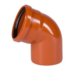 Колено для наружней канализации DN110x67