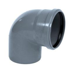 Колено ПВХ для внутренней канализации DN110x90