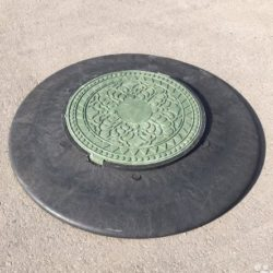 Оголовник ПП с люком (черный/зеленый)