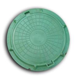 """Люк полимер-песчаный тип """"ЛМ"""" (А 1,5т) зеленый (750х576мм, H 53мм)"""