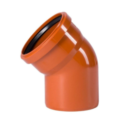 Колено для наружней канализации DN110x30 (Россия)