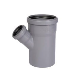 Тройник ПВХ для внутренней канализации DN110x50/45