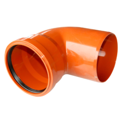 Колено для наружней канализации DN200x90