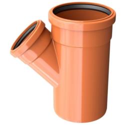 Тройник ПВХ для наружней канализации DN200x110/45 (х)