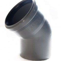 Колено ПВХ для внутренней канализации DN110x45