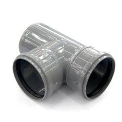 Тройник ПВХ для внутренней канализации DN110x110/90