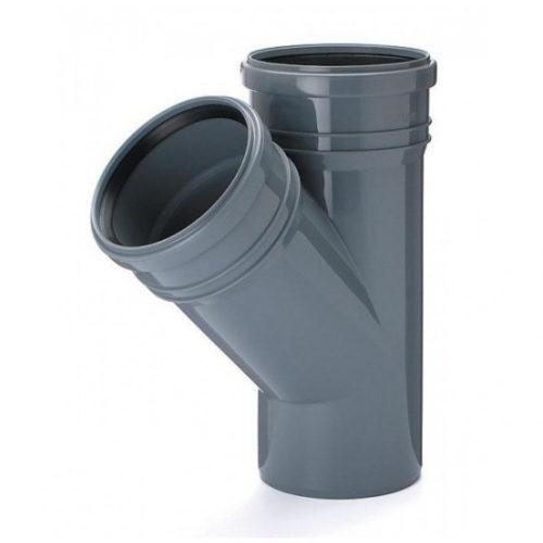 Тройник ПВХ для внутренней канализации DN110x110/45